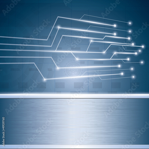 Abstract vector futuristic circuit background