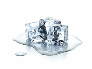 Drei Eiswürfel