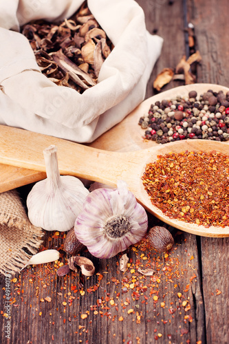Various spices for cooking