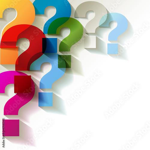 die Fragezeichen Papier Bunt Transparent
