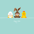 Egg, Bunny & Duck Retro