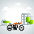retro motorbike in the city 1