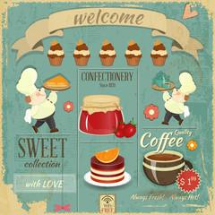 Sweet Cafe Menu Retro Design