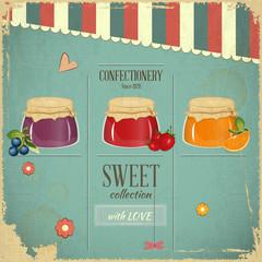 Confectionery Retro Design