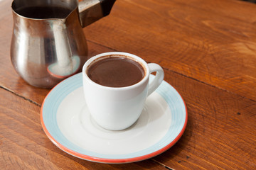 Turkish Coffee served in Demitasse cup
