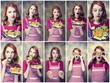 Collage photos - Redhead women with cookies