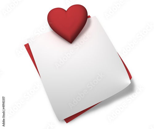 Red Heart Love Notes