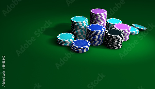 Poker And Casino Chips Background