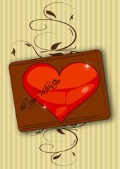 Valentin, Grusskarte Herz