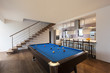 modern loft, room with billiard