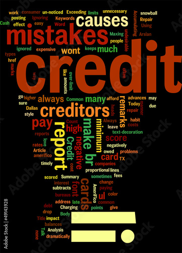 Common credit mistakes Concept