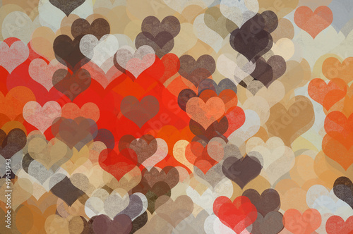 hearts pattern abstract illustration