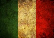 Grunge Włochy flag