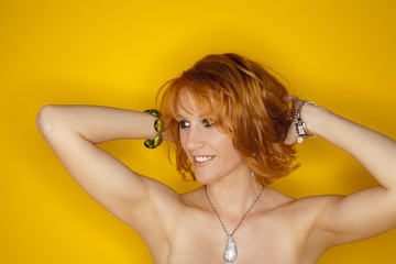 red hair beauty girl
