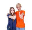 Zwei Teengager mit Daumen hoch