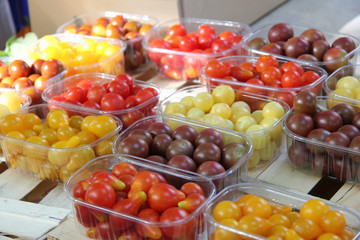 Cherry tomatoes at a French market