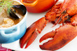 Sea food - lobster and French fish soup