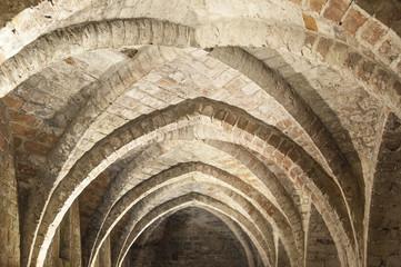 Klosteransicht, Kreuzgewölbe