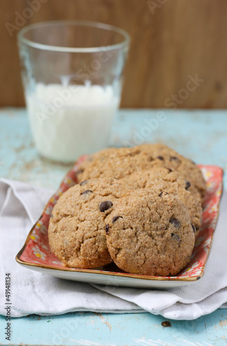 Buckwheat cookies with chocolate chips