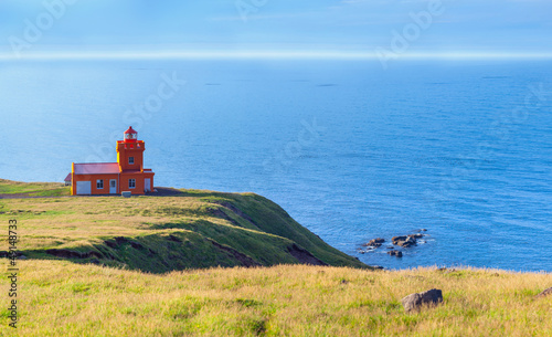 North Iceland Sea Landscape With Lighthouse