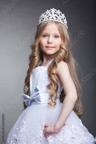 Pretty little girl in tiara