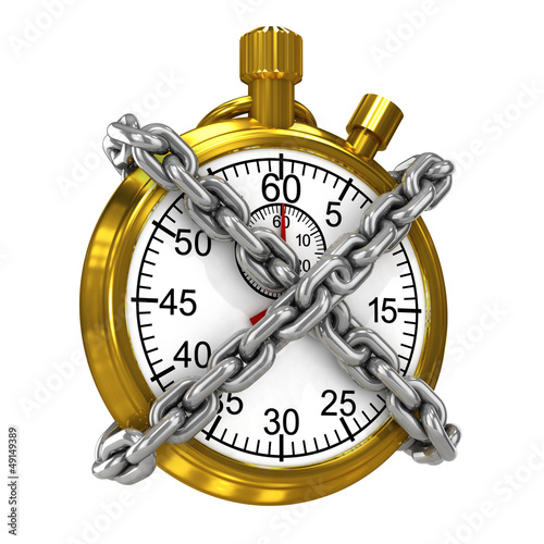 Chained gold stopwatch