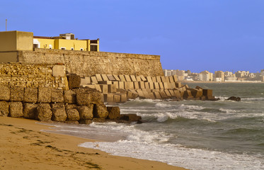 Cadiz bay, this site is located in Cadiz city, south of Spain
