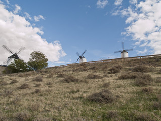 Medieval windmill ,Consuegra, Toledo province, Spain.