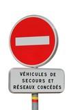 Interdiction de circulation avec exceptions et marquage G.R. poster