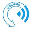 volume sur symbole bleu