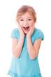 Kleines Mädchen freudig überrascht