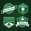 Happy St.Patrick old-fashioned badges
