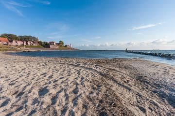 Seaside of historic Dutch Village Urk