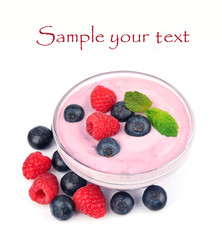 Fresh smoothies with berries