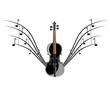 Violin instruments illustration
