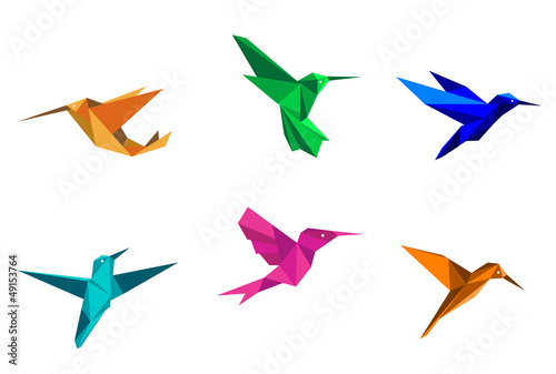Origami hummingbirds