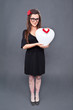 Loving lolita standi heart balloon