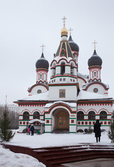 Trinity church in Old Cheremushki. Moscow. Winter time.
