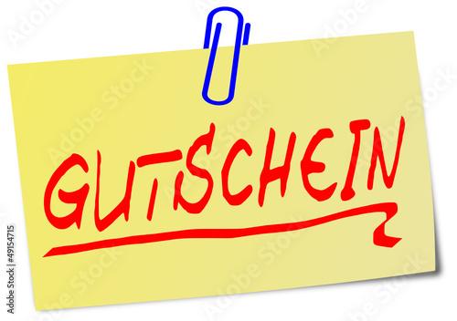 Gutschein Post It gelb  #130203-svg04