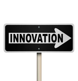 Innovation Road Sign Points Way to Innovative Invention poster
