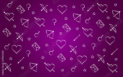 Valentine's day hearts wallpapers