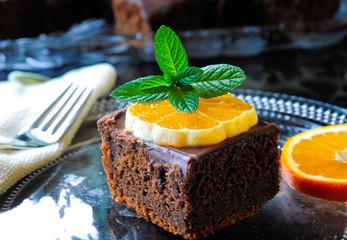 Orange Topping Chocolate Cake