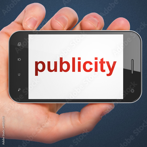 Marketing concept: smartphone with Publicity