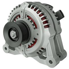 Car alternator, 3D render