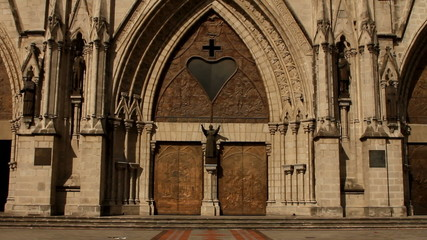Main door entrance of the Basilica of the national vow