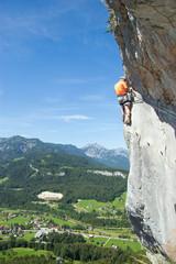 Kletterer, Ewige Wand, Bad Goisern, Salzkammergut