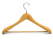Single isolated wooden hanger 1