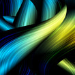 abstract waves lines for techno background