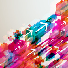Abstract arrows background.