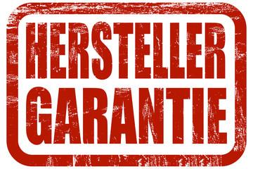 Grunge Stempel rot HERSTELLERGARANTIE